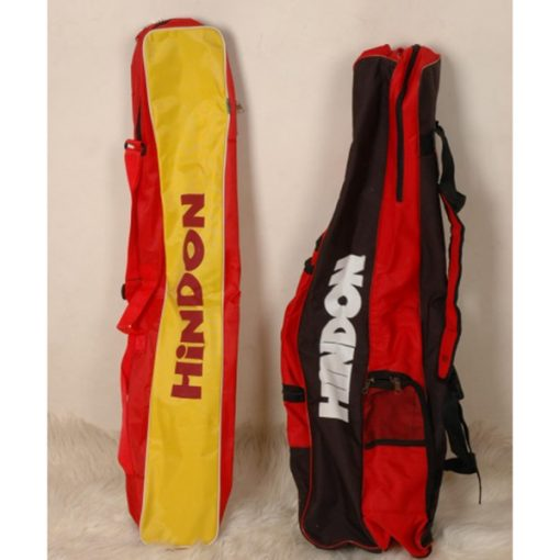 hockey bag and sticks