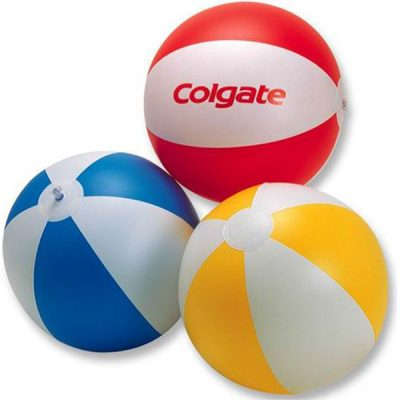 beach balls with logo