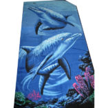 beach towel dolphin print