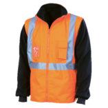 orange reflective high visibility jacket