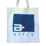 calico shopping bags branded with logo