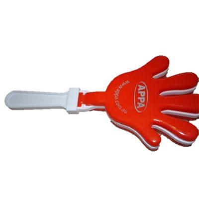 hand clapper with logo printed