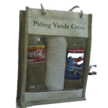 hessian bag with pvc front