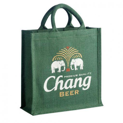 hessian shopping bag branded