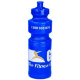 water bottle printed with logo