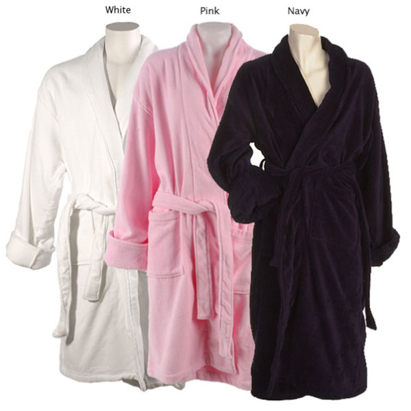bath robes and dressing gowns with hotel or company logo embroidered