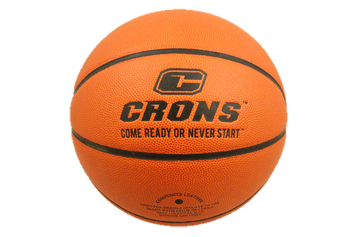 basketball with team logo