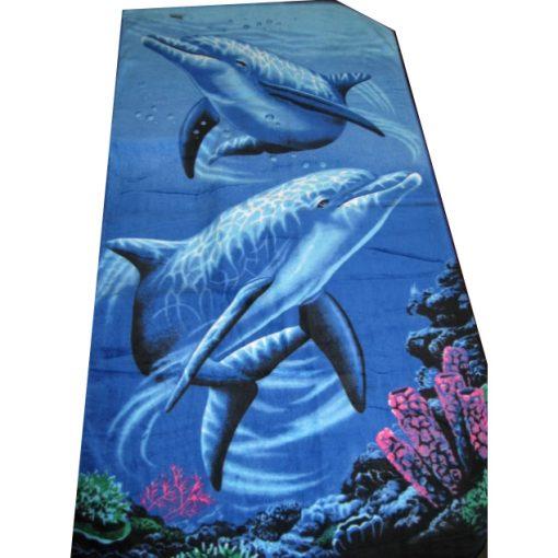 beach towel dolphin print
