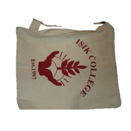 calico drawstring bag