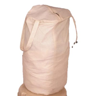 calico laundry bag with logo printed