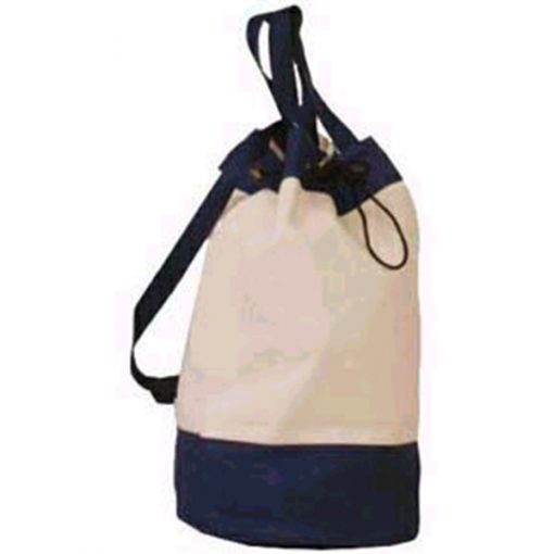 canvas duffle bag branded