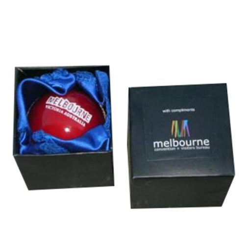 cricket ball in presentation box