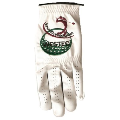 golf gloves branded with club logo