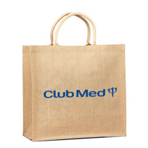branded hessian bag