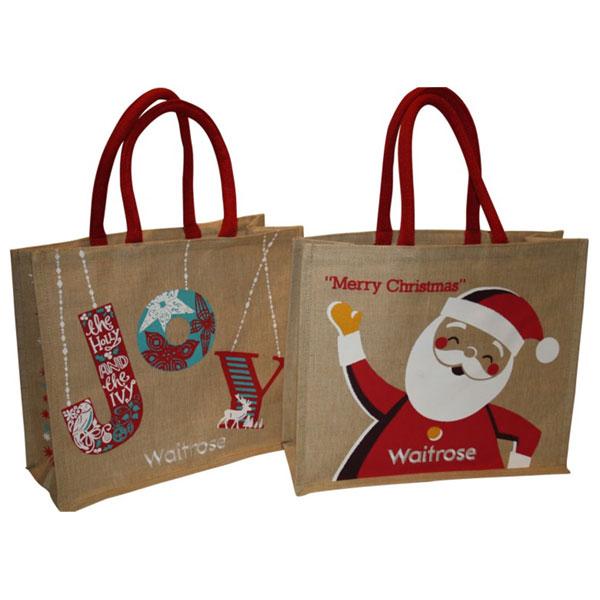 hessian christmas bags