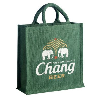 hessian shopping bag branded