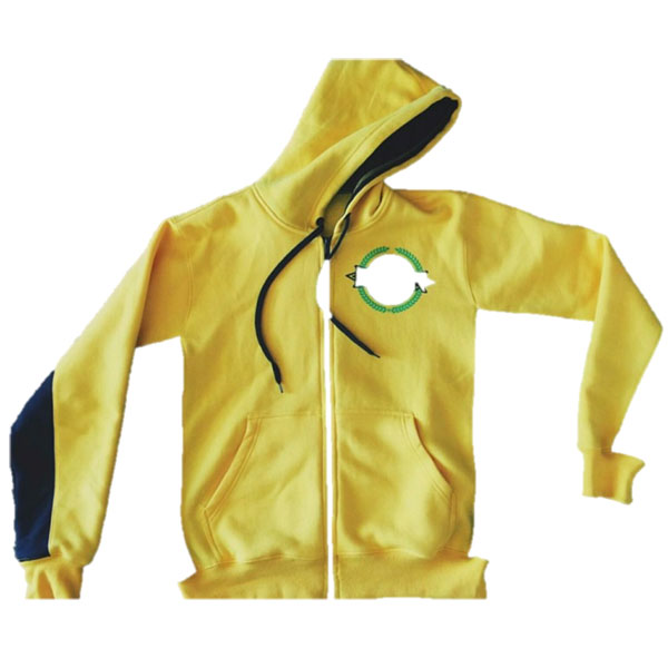 hoodie with zip front