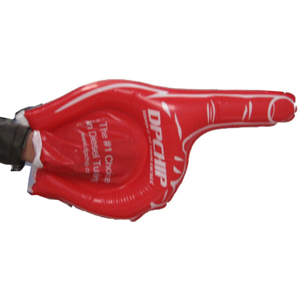 red inflatable hand