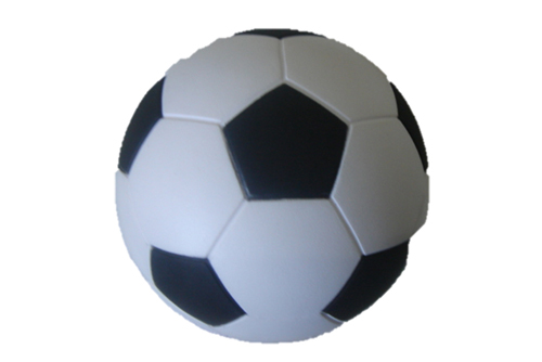 soccer ball branded with logo
