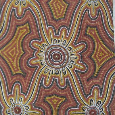 aboriginal tea towel design