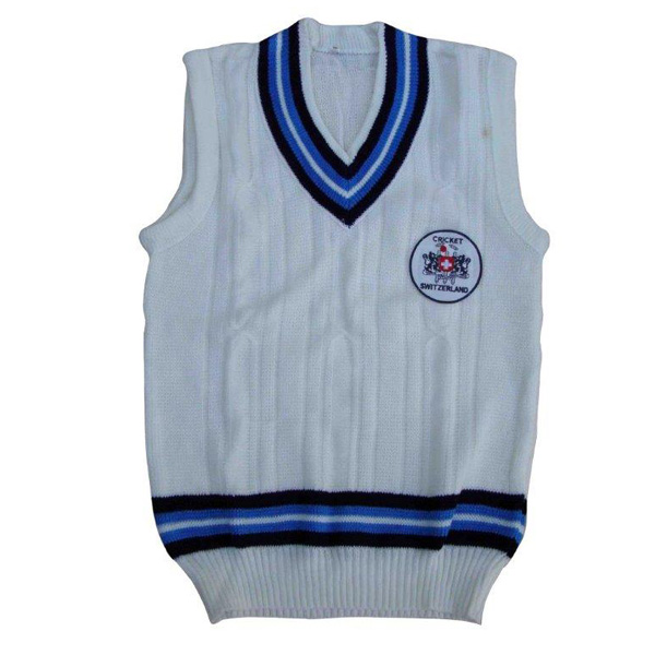 cricket vest with embroidered logo