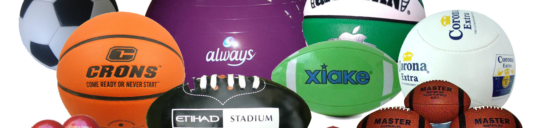 sports balls printed with logo