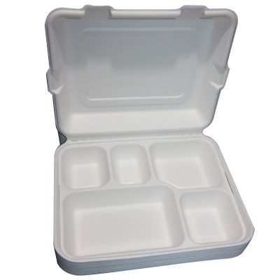 clamshell 5 compartment container