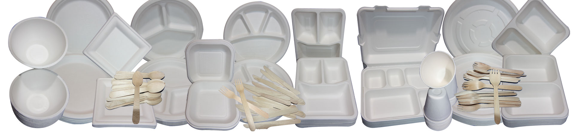 recycled food packaging and tableware