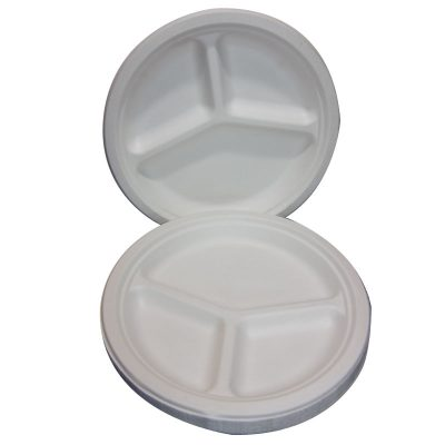 3 compartment plates recycled biodegradable